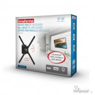 """Suporte Articulado para TV LED, LCD, Plasma, 3D e Smart TV de 10"""" a 55"""" – Brasforma - SBRP 1020"""